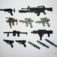 Figuras y Muñecos Gi Joe: LOTE PACK 12 ARMAS GIJOE COBRA. PISTOLAS, RIFLES, LANZAGRANADAS, MACHETES G.I.JOE GI JOE EQUIPO L1. Lote 218282510