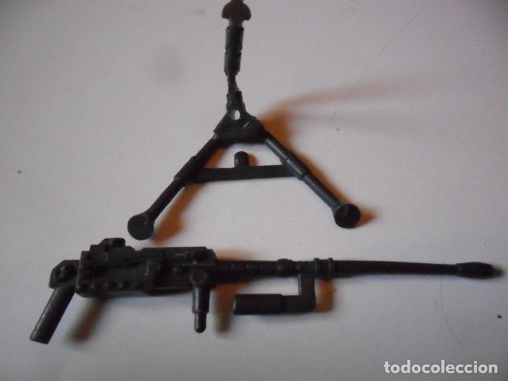 Figuras y Muñecos Gi Joe: GI JOE ROADBLOCK TIGER FORCE (v3) HEAVY MACHINE GUN & TRIPOD HASBRO 1988 - Foto 2 - 219310450