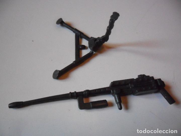 Figuras y Muñecos Gi Joe: GI JOE ROADBLOCK TIGER FORCE (v3) HEAVY MACHINE GUN & TRIPOD HASBRO 1988 - Foto 3 - 219310450
