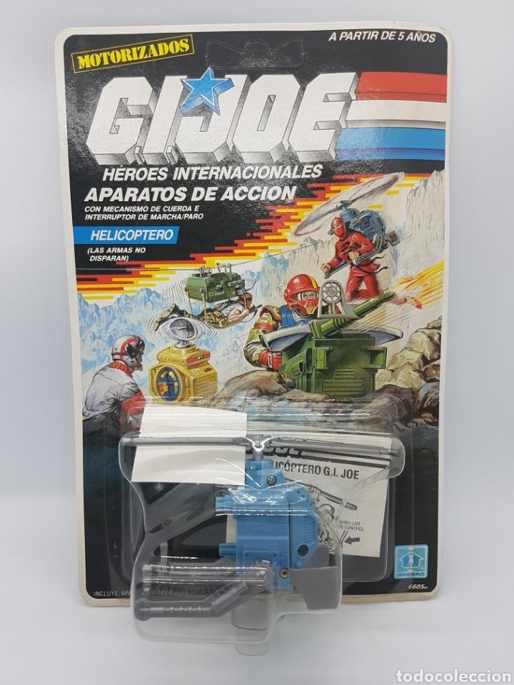 GI JOE HELICOPTERO APARATOS DE ACCIÓN MOTORIZADOS / 1988 HASBRO MB ESPAÑA/ EN SU BLISTER/NUEVO/GIJOE (Juguetes - Figuras de Acción - GI Joe)