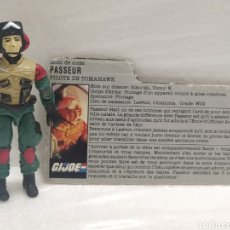Figuras y Muñecos Gi Joe: GI JOE LIFT-TICKET (V1) TOMAHAWK PILOT DE 1986. CON FILECARD EN FRANCÉS. Lote 246361185