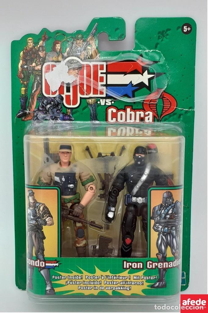 FIGURA DE GIJOE VS COBRA AIR ASSAULT CON RECONDO 2002 (Juguetes - Figuras de Acción - GI Joe)
