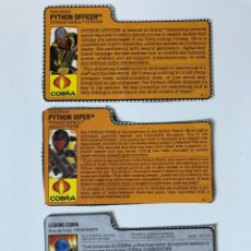 Figuras y Muñecos Gi Joe: LOTE GI JOE FICHAS PHYTON PATROL / COBRA TROOPER. Lote 282979158