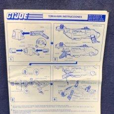 Figuras y Muñecos Gi Joe: INSTRUCCIONES GI JOE TOMAHAWK 1988 BUEN ESTADO 30X21CMS. Lote 285237408