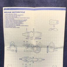Figuras y Muñecos Gi Joe: INSTRUCCIONES MIRAGE MOTORCICLE G.I.JOE 1985 HASBRO 36X28CMS. Lote 288699268