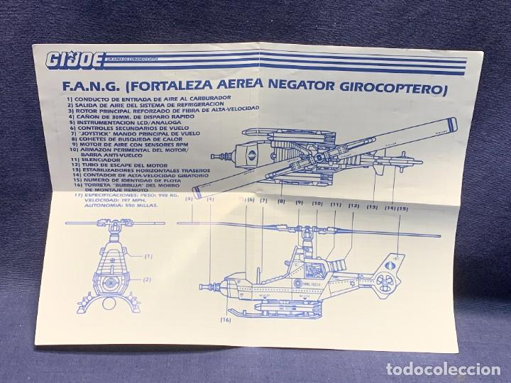 INSTRUCCIONES F.A.N.G. FORTALEZA AEREA NEGATOR GIROCOPTERO G.I.JOE 1988 HASBRO 28X21CMS (Juguetes - Figuras de Acción - GI Joe)
