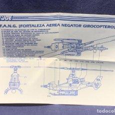 Figuras y Muñecos Gi Joe: INSTRUCCIONES F.A.N.G. FORTALEZA AEREA NEGATOR GIROCOPTERO G.I.JOE 1988 HASBRO 28X21CMS. Lote 288699843