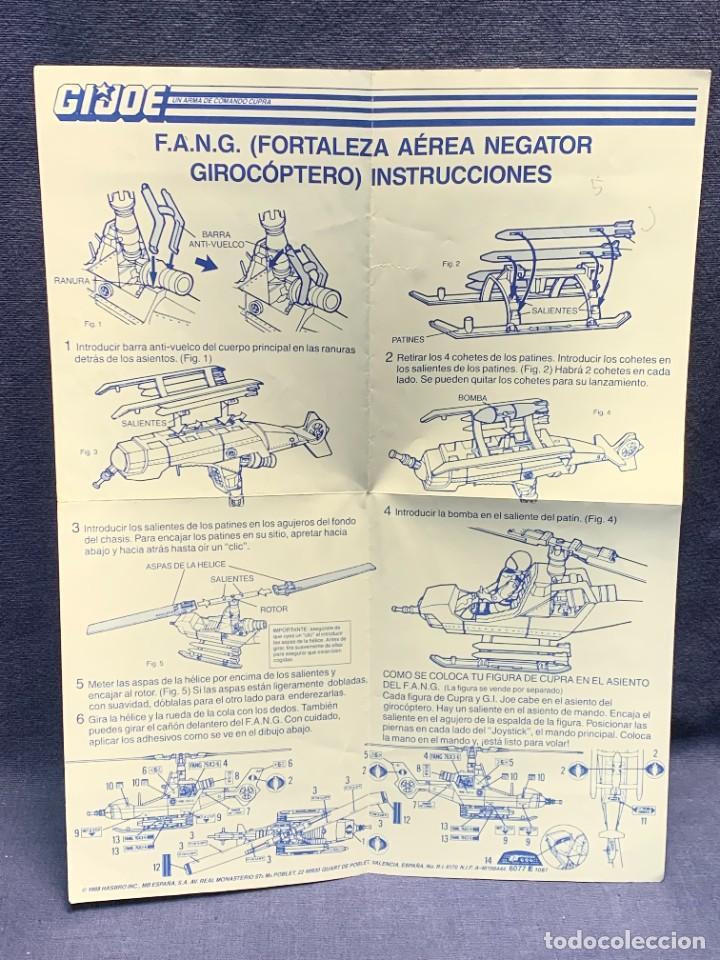 Figuras y Muñecos Gi Joe: INSTRUCCIONES F.A.N.G. FORTALEZA AEREA NEGATOR GIROCOPTERO G.I.JOE 1988 HASBRO 28X21CMS - Foto 8 - 288699843