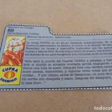 Figuras y Muñecos Gi Joe: FIGURA DE ACCION GIJOE GI JOE, COMPLEMENTO ,CARTON, FICHA ,TARJETA. Lote 289868993