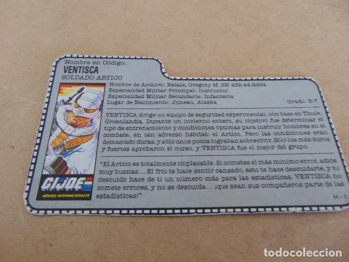 FIGURA DE ACCION GIJOE GI JOE, COMPLEMENTO ,CARTON, FICHA ,TARJETA (Juguetes - Figuras de Acción - GI Joe)