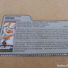 Figuras y Muñecos Gi Joe: FIGURA DE ACCION GIJOE GI JOE, COMPLEMENTO ,CARTON, FICHA ,TARJETA. Lote 289869103