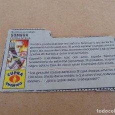 Figuras y Muñecos Gi Joe: FIGURA DE ACCION GIJOE GI JOE, COMPLEMENTO ,CARTON, FICHA ,TARJETA. Lote 289869193