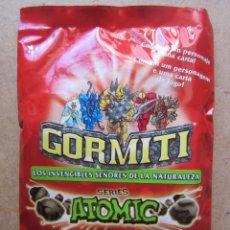 Figurines et Jouets Gormiti: SOBRE GORMITI SERIE ATOMIC. Lote 80128857