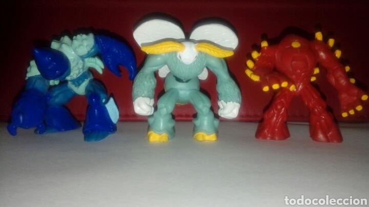 LOTE TRES GORMITIS 2007 (Juguetes - Figuras de Acción - Gormiti)
