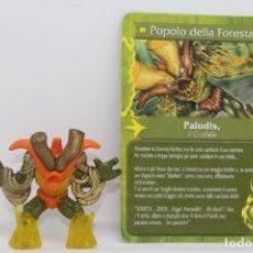 Figuras y Muñecos Gormiti: GORMITI SERIE MYTHOS - PALUDIS IL CRUDELE - FIGURA Y CARTA. Lote 113829995