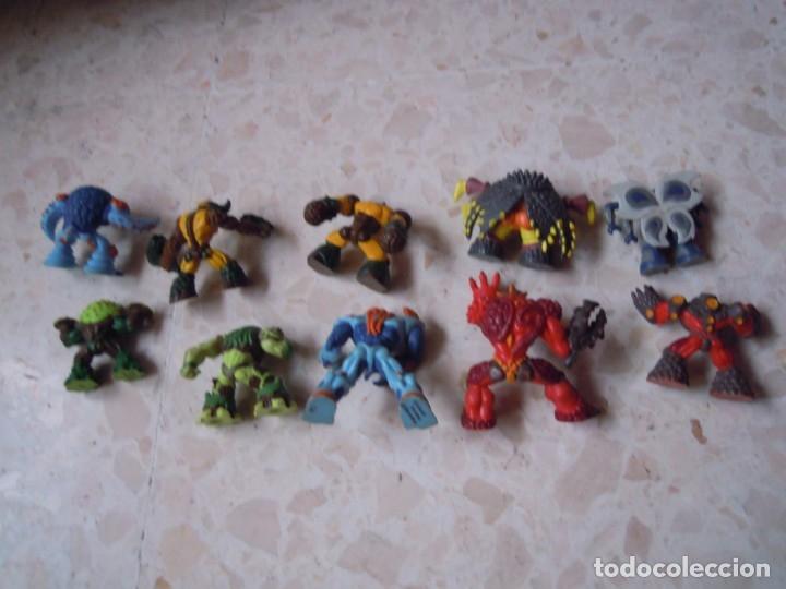 Figuras y Muñecos Gormiti: LOTE GORMITI ANIMAL BOSQUE CON GORMITI MONTADO, AGUA 13 CM Y 10 GORMITIS MAS - Foto 13 - 130534802