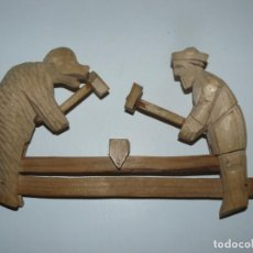 Figuras e Bonecos Gormiti: BONITO JUEGO DE MADERA ARTESANO MUY ANTIGUO. Lote 144337554