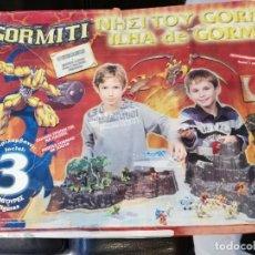 Figuras y Muñecos Gormiti: CAJA ISLA DE GORM. Lote 186345232
