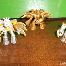 Figurines et Jouets Gormiti: LOTE 3 GORMITI - DORADO - 2 LUMINOR, GORMITI DE LA LUZ Y OTRO GORMITI LUZ. DISPONGO DE MAS JUGUETES. Lote 242178760