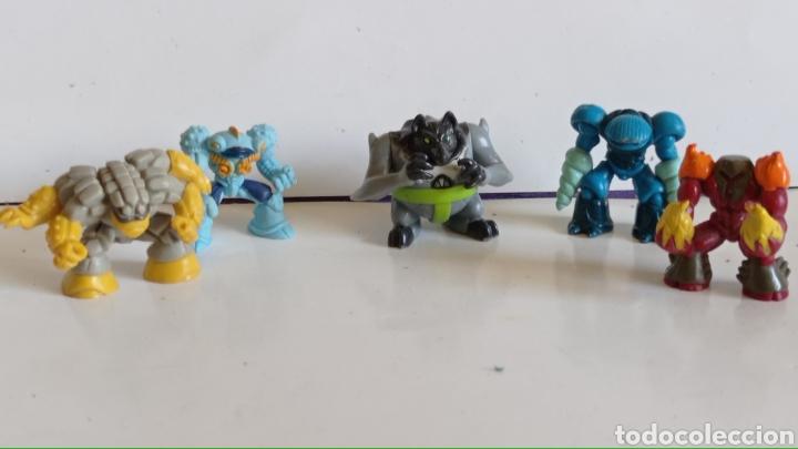LOTE DE 5 FIGURAS EN PVC / TIPO GORMITI MINIATURA / MIDEN 3 CM DE ALTO (Juguetes - Figuras de Acción - Gormiti)