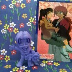 Figuras y Muñecos Manga: RUROUNI RURONI KENSHI KENSHIN Y CARD. Lote 46392986
