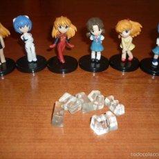 Figuras y Muñecos Manga: 6 FIGURAS ANIME EVANGELION CHIBI TORICOLLE GASHAPON. Lote 55784342