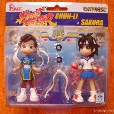 Figuras y Muñecos Manga: CHUN LI Y SAKURA FIGURAS ESTILO CHIBI DE CAPCOM. Lote 55917941