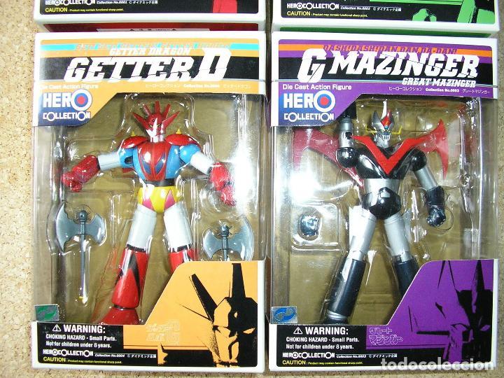 Figuras y Muñecos Manga: Mazinger Hero Collection 4 Figuras Diecast Metal - Foto 3 - 41147881