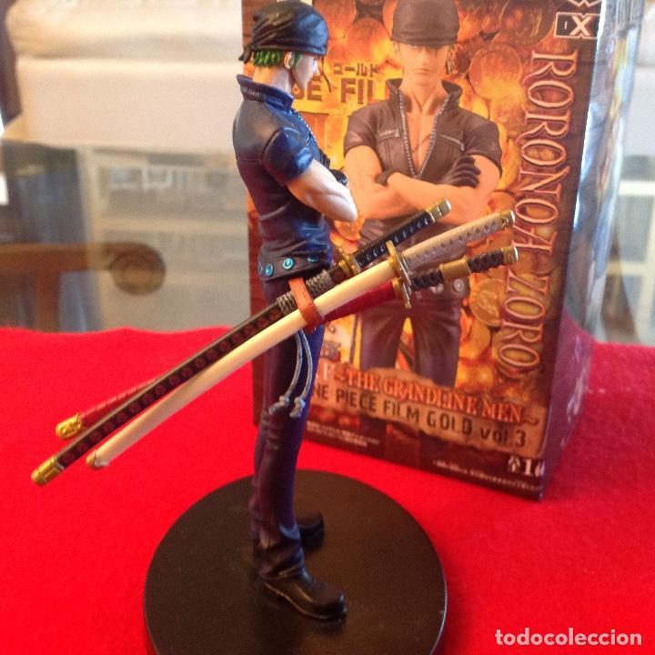 Figuras y Muñecos Manga: RORONOA ZORO GRANDLINE MEN FILM GOLD EDITION VOL.3 BANPRESTO, SERIE ONE PIECE. NUEVA, en su caja. - Foto 2 - 94545211