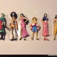 Figuras y Muñecos Manga: 6 FIGURAS ONE PIECE - LUFFY - USSOP - NICO ROBIN - BROOK - BOA HANCOCK - RORONA ZORO (11 - 14 CM). Lote 100668910
