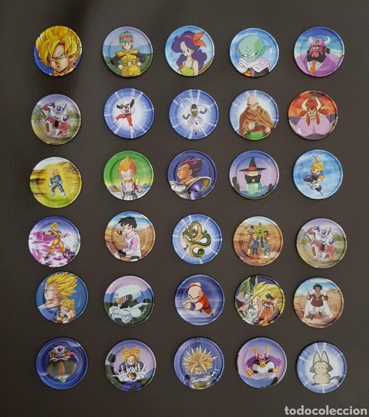 CHAPAS METÁLICAS TAZOS DRAGON BALL PRECIO NEGOCIABLE 1€ POR UNIDAD.!! GOKU CHAPAS DE COLECCION. (Juguetes - Figuras de Acción - Manga y Anime)