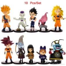 Figuras y Muñecos Manga: 10 PCS FIGURAS DRAGON BALL VEGETA BEERUS SON GOKU FRIEZA SAIYAN ESTATUILLAS. Lote 112118295