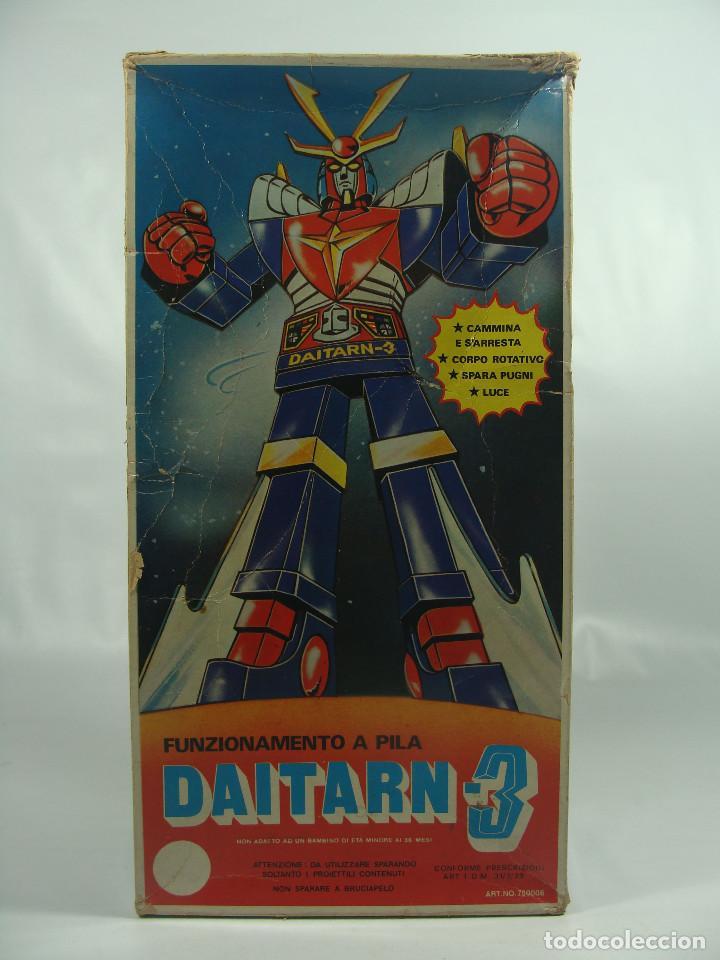 Figuras y Muñecos Manga: Daitarn 3 Junior Machinder (Grande) Fabricado por Al-Es en Hong Kong 1978 para el mercado italiano - Foto 2 - 122654575