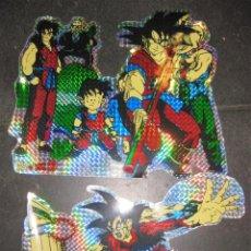 Figuras y Muñecos Manga: 2 BONITAS PEGATINA DRAGON BALL Z - BOLA DE DRAC . GRAN TAMAÑO 28 / 16 CM AÑO 1989 , SIN USAR. Lote 137331246