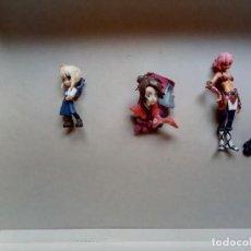 Figuras y Muñecos Manga: FIGURA MUÑECO MANGA ANIME LOTE DE 3 FIGURAS UNA DE ELLAS CON IMÁN. Lote 162776566