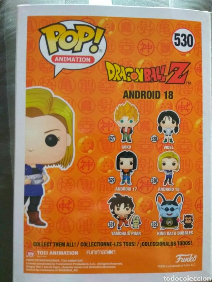 Figuras y Muñecos Manga: figura Funko Pop Android 18 Dragon ball Z - Foto 4 - 165697468