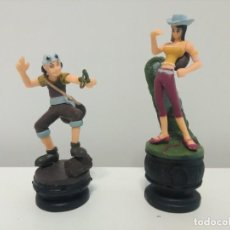 Figuras y Muñecos Manga: FIGURAS DE AJEDREZ DE ONE PIECE DE USOPP Y NICO ROBIN. Lote 168456688