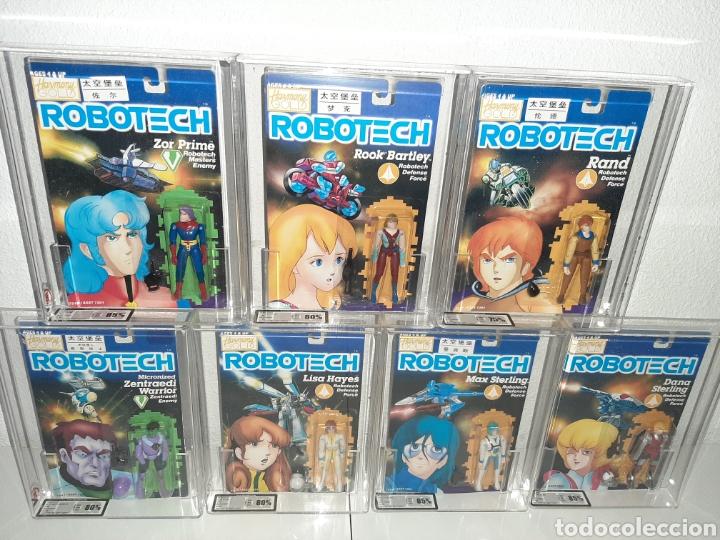 ROBOTECH AFA UKG MEGA LOTE 7 MOC BLISTER FIGURAS GRADUADAS MAX LISA RAND DANA ROOK ZOR (Juguetes - Figuras de Acción - Manga y Anime)