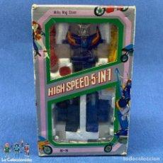 Figuras y Muñecos Manga: ANTIGUO ROBOT MARCA BAXINGER POPY ROBOT HIGH SPEED 5~1 MOTORCYCLE EN CAJA SIN MONTAR - NUNCA JUGADO. Lote 204797686