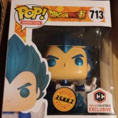 Figuras y Muñecos Manga: FUNKO POP DRAGON BALL SUPER - POWERING VEGETA AZUL CHASE 713 - IMPECABLE - EDICION LIMITADA METALICO. Lote 236059375
