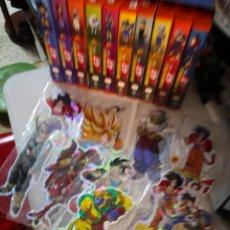 Figuras y Muñecos Manga: PACK COLECCION 10 VHS DRAGON BALL MANGA ANIME 1996 Y 12 PEGATINAS COLECCIÓN BRILLANTE. Lote 241148670