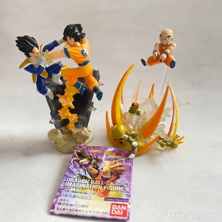 LOTE 2 FIGURAS DIORAMAS GASHAPON DRAGON BALL Z IMAGINATION FIGURE 9 BANDAI KRILIN-GOKU-VEGETA (Juguetes - Figuras de Acción - Manga y Anime)
