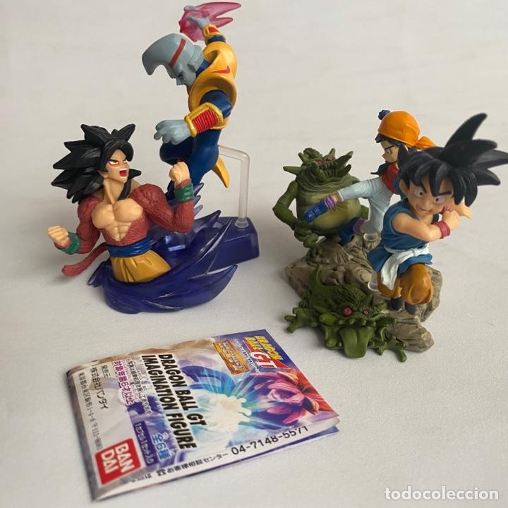 LOTE 2 FIGURAS DIORAMAS GASHAPON DRAGON BALL GT IMAGINATION FIGURE BANDAI PAN-SUPER SAIYAN 4-BABY (Juguetes - Figuras de Acción - Manga y Anime)