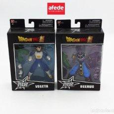 Figuras y Muñecos Manga: PACK DOS BLISTER DRAGON BALL SUPER. BEERUS Y VEGETA. DRAGON STARS SERIES. COLECCIONISMO.. Lote 287885663