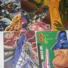 Figuras y Muñecos Marvel: MARVEL OVERPOWER CARD GAME , 5 TRADING CARDS. Lote 11848010