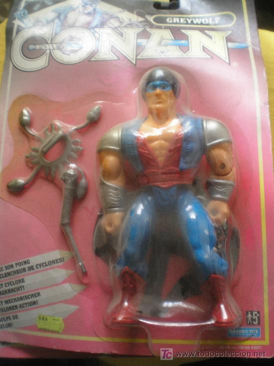 CONAN SERIE DE TV. 1992 HASBRO. GREYWOLF EN BLISTER, LA FIGURA MIDE 20X10 CM (Juguetes - Figuras de Acción - Marvel)