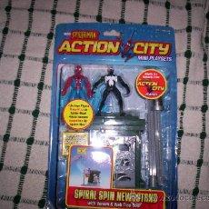 Figuras y Muñecos Marvel: SPIDERMAN ACTION CITY – SPIRAL SPIN NEWSSTAND – PRECINTADO. Lote 213243055