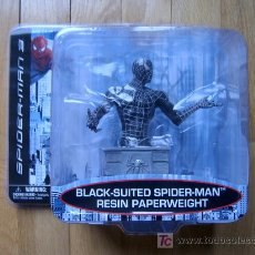 Figuras y Muñecos Marvel: BUSTO PISAPAPELES SPIDERMAN BLACK-SUITED SPIDER-MAN RESIN PAPERWEIGHT - MARVEL 2007 - NUEVO!. Lote 26315188