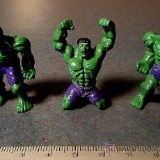 Figuras y Muñecos Marvel: LOTE 3 FIGURAS KINDER DE EL INCREIBLE HULK. Lote 37110403