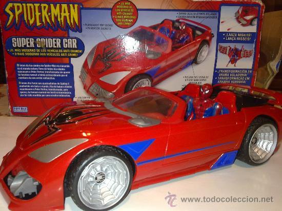 SUPER SPIDERCAR.COCHE GIGANTE CON SU CAJA ORIGINAL DE 42 CM. (Juguetes - Figuras de Acción - Marvel)